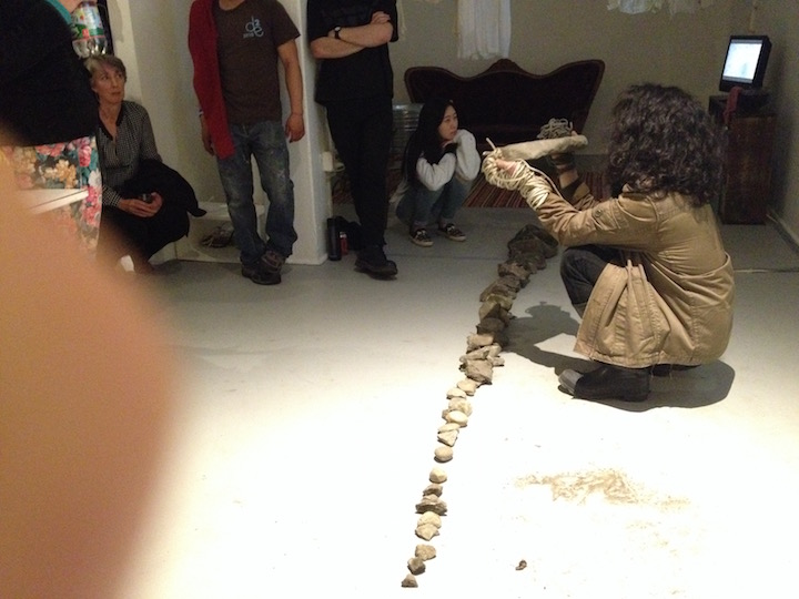 i dug 54 stones from the providence river<br>Photo © Anabel Vázquez Rodríguez 2015